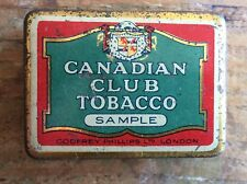 Godfrey Philips Canadian Club Tobacco Miniature Vesta Tin c1920s