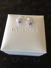 Genuine 925 Silver Pandora Magnolia Bloom Stud Earrings