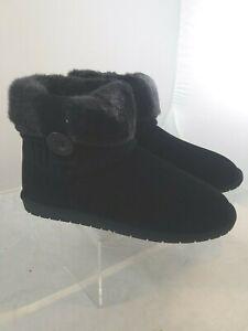 Rampage Parvin Sweater Fur Black Booties Ladies Size 10M  New in Box