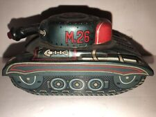 Vintage Marusan To Japan Friction Tin Litho M 26 Tank Us Army