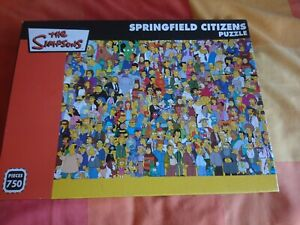 The Simpsons Springfield Citizens Jigsaw Puzzle  750 Pieces.