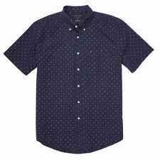 Tommy Hilfiger Men's Short Sleeve Woven Shirt - DARK BLUE (Select Size: M-3XL)