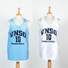 MENS VINTAGE RETRO USA REVERSIBLE BASKETBALL VEST JERSEY TOP VNSO #10 M
