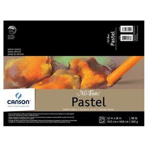 "Canson Mi-Teintes Pastel Pad 12x16"" - Earth Tones"
