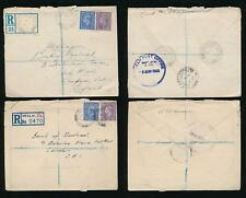 CANADA ARMY PO in GB 1944-45 REGISTERED MAIL FPO 821 + 496...2 ENVELOPES