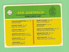 Cricket Trading Cards Checklist Scanlens