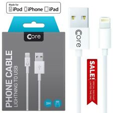 Boxed Apple iPhone 6 5S 7 8 XS 11 Lightning USB Cable Fast Charge Data Lead 3M