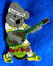 MELBOURNE AUSTRALIAN OPEN TENNIS KOALA PLAYER & RACQUET 2002 Hard Rock Cafe PIN