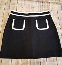 banana republic Womens size 4 Skirt Black ,White Pockets