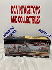 VINTAGE 1984 MINT IN BOX Kenner Star Wars POTF Tatooine Skiff NEVER USE COMPLETE