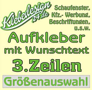 3. Zeilen Aufkleber Beschriftung 50-170cm Werbung Sticker Werbebeschriftung
