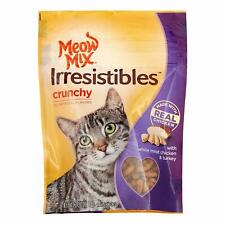 (6 Pack) Meow Mix Irresistibles Crunchy Chicken & Turkey Treats for Cats 2.5 oz