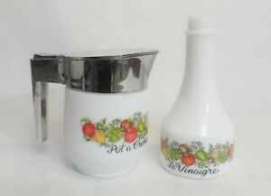 Vintage Pot Creamer Corning Ware Spice of Life Gemco a Creme Flip Top Lid Usa