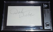 Dick Weber Signed 3x5 Index Card Autograph Auto BGS BAS PBA Bowling HOF (D.2005)