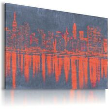 NEW YORK CITY ART View Canvas Wall Art Picture Large SIZES  L2 MATAGA