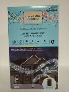 Gemmy Orchestra of Lights Holiday Lightshow Music 6 Outlet Show Box with Speaker