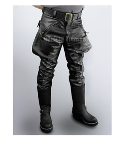 Mens Cowhide Leather Pants Trousers BLUF Pants Lederjeans Lederhosen Breeches