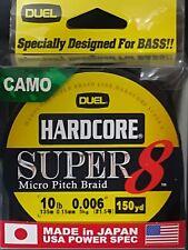 DUEL HARDCORE SUPER 8 MICRO PITCH BRAID LINE CAMO 10lb 0.15mm 150yd COL CAMO