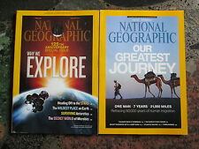 NATIONAL GEOGRAPHIC MAGAZINE LOT OF 2 ISSUES January and December 2013 Magazines