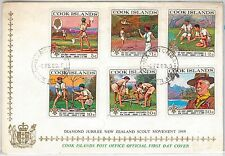 BOY SCOUTS --- COOK ISLANDS -  POSTAL HISTORY - OFFICIAL  FDC  COVER 1969