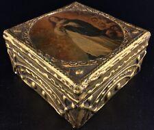 Boîte à bijoux en bois doré- Vintage de style ancien