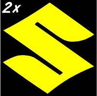 Suzuki S Logo Gloss Yellow 600 decals 450 sticker 750 gsxr 250 rm 1000 gsxs 1100