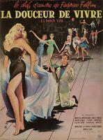 Affiche Originale - Y.Thos - La Douceur de Vivre - La Dolce Vita - Fellini -1960