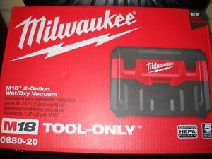 Milwaukee 0880-20 M18 18-Volt Wet/Dry HEPA Vacuum w/ Crevice Tool NEW