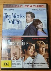 TWO WEEK'S NOTICE / NO RESERVATIONS DVD (PAL, 2007) HUGH GRANT FREE POST