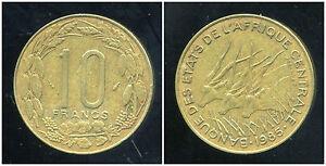10 FRANCS 1985  (banque des etats d'afrique centrale )