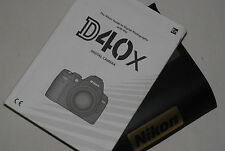 Genuine NIKON D40X Digital SLR Camera Original USER GUIDE Instruction Manual