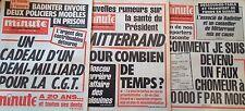"""Lot 3 """"MINUTE"""" Mars Avril 1982 / Santé de MITTERRAND ; BADINTER ; CGT ; A.D.G."""
