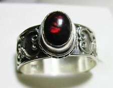 Black Ethiopian Welo Opal Ring in 925 Sterling Silver size 5