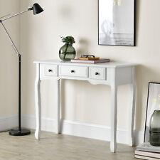 [en.casa] Konsolentisch mit 3 Schubladen Frisiertisch Konsole Ablagetisch Weiß