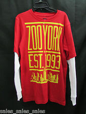 Zoo York Boys LS Shirt Size XL red cotton