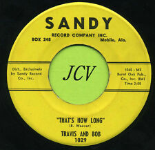 TRAVIS AND BOB Wake Up And Cry / That's How Long    ROCKABILLY  45 RPM  RECORD