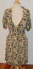NWT $240 BCBG MAXAZRIA floral STRETCH DRESS sz L - Vintage print, belted & FAB!