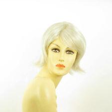 Perruque femme blanche cheveux lisses ref MARGOT 60