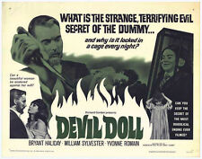 DEVIL DOLL original 22x28 1964 HORROR movie poster YVONNE ROMAIN/BRYANT HALIDAY