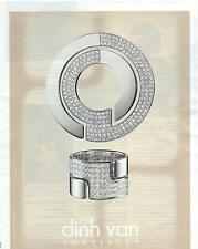 PUBLICITE ADVERTISING 2011 Dinh Van joaillier diamantaire