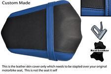BLACK & BLUE CUSTOM FITS YAMAHA FAZER FZ1 06-12 REAR PILLION SEAT COVER