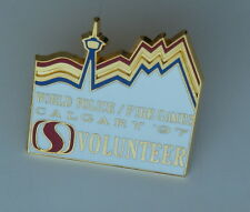 World Police Fire Games Calgary 1997 Safeway Volunteer Lapel Hat Pin