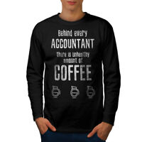 Wellcoda Accountant Coffe Mens Long Sleeve T-shirt, Job Funny Graphic Design