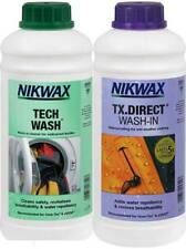 Nikwax Tech Wash & TX Direct 1 Litre Twin Pack Cleaning Waterproofing Outdoor