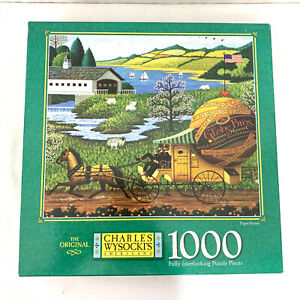 """Charles Wysocki 1000 Pieces Jigsaw Puzzle """"Paper Route"""" 1997"""