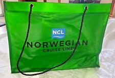 NEW Norwegian Cruise Line NCL Large Tote Bag Heavy Green Rope Handles in Package