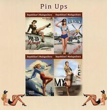 More details for madagascar art stamps 2020 mnh pin-ups pin-up girls aviation 4v impf m/s ii