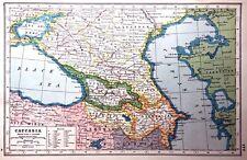 Vintage Antique Original 1920 Print Map Of Caucasia Great Picture