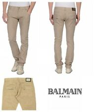 Pierre Balmain - Men's Biker Jeans Engineered Size 36 Beige