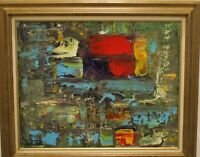 Modern Abstract Painting by Jonas Clark Oil on Panel